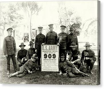 Wwi Us Army Recruiters Of California Canvas Print by Historic Image