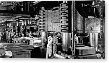 Wwii Aircraft Factory Canvas Print