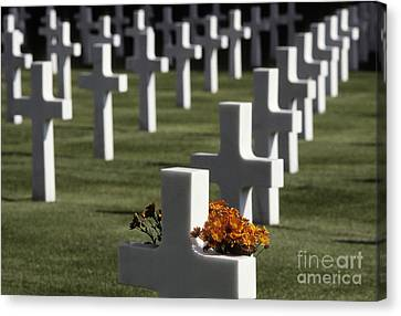 Wwii Cemetery, Italy Canvas Print by Ron Sanford