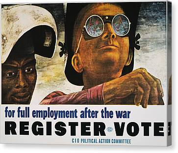Wwii: Employment Poster Canvas Print by Granger
