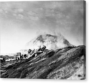 Wwii Iwo Jima Beachhead  Canvas Print by Historic Image