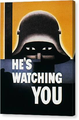 Wwii: Propaganda Poster Canvas Print