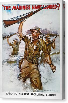 Wwii Recruiting Poster Canvas Print