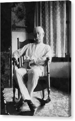 Wyatt Earp In A Rocking Chair Canvas Print