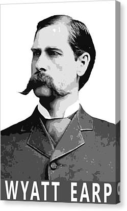 Wyatt Earp Legend Of The Old West Canvas Print