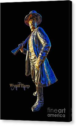 Wyatt Earp Statue Hdr Poster Canvas Print by Andreas Hohl