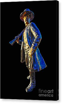 Wyatt Earp Statue Hdr Print Canvas Print by Andreas Hohl