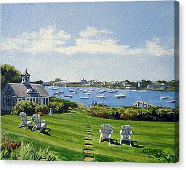 Wychmere Harbor Harwich Port Massachusetts Cape Cod Massachusetts Canvas Print by Christine Hopkins