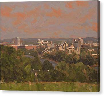 Canvas Print featuring the painting Wyck Autumn 2011 by Nop Briex