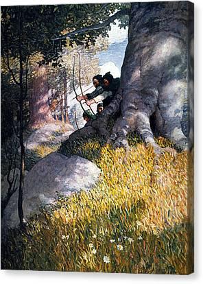 N.c Canvas Print - Wyeth Robin Hood, 1917 by Granger