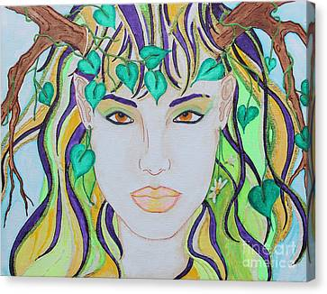 Wyld Spring Spirit Canvas Print by Luanna Swaney
