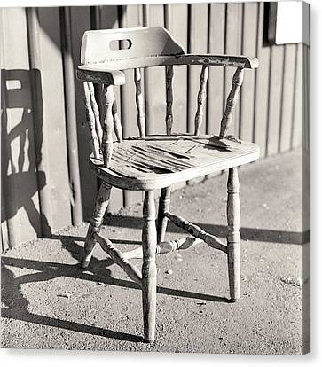 Empty Chairs Canvas Print - Wylie's Chair by Will Gunadi