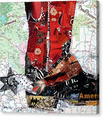 Wyoming Boot Canvas Print by Suzy Pal Powell