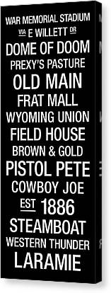 Wyoming College Town Wall Art Canvas Print by Replay Photos