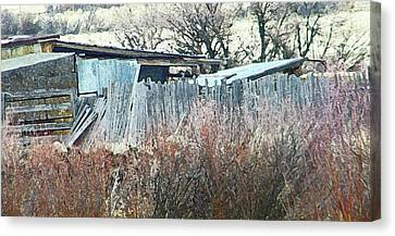 Wyoming Sheds Canvas Print by Lenore Senior