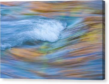 Wyoming, Sublette County, Pine Creek Canvas Print by Elizabeth Boehm