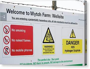 Wytch Farm Oil Well At Kimmeridge Bay Canvas Print by Ashley Cooper
