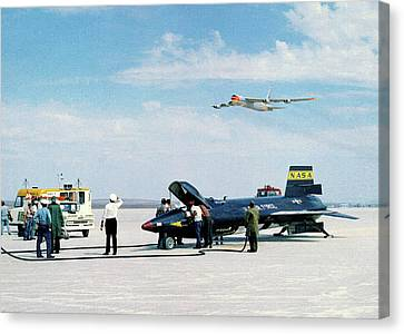 X-15 Aircraft After Landing Canvas Print by Nasa