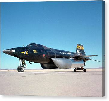 X-15 Aircraft And Fuel Tanks Canvas Print