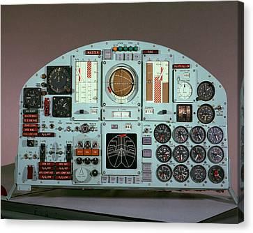X-15 Aircraft Control Panel Canvas Print