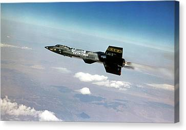 X-15 Aircraft In Flight Canvas Print