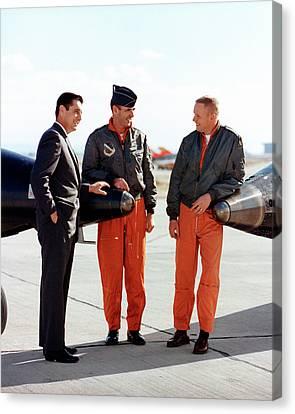 North American Aviation Canvas Print - X-15 Aircraft Test Pilots by Nasa
