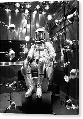 North American Aviation Canvas Print - X-15 Flight Suit Testing by Nasa/boeing
