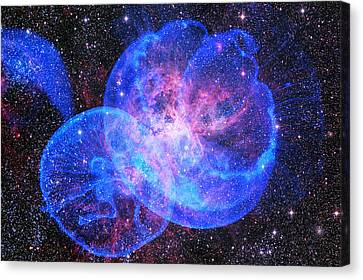 X-factor In Universe. Strangers In The Night Canvas Print by Jenny Rainbow