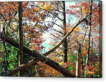 Gatlinburg Tennessee Canvas Print - X Marks The Spot by Susie Weaver