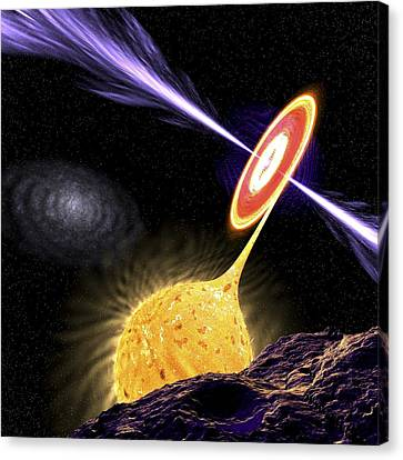 X-ray Binary System, Artwork Canvas Print by Science Photo Library