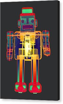 X-ray Robot Bb No.1 Canvas Print by Roy Livingston