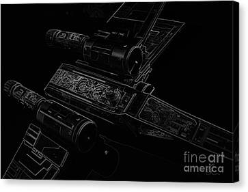 X Wing Fighter Bw Canvas Print