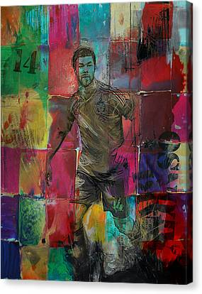Xabi Alonso - C Canvas Print by Corporate Art Task Force
