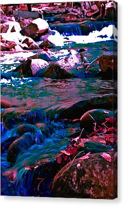 Turquois Water Canvas Print - Xanadu by DigiArt Diaries by Vicky B Fuller