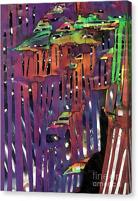 Xanadu Ice Caverns Canvas Print by Sarah Loft