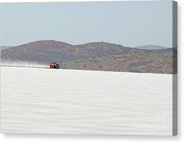 Xb Ford Falcon Coupe On The Salt At Full Throttle Canvas Print by Frank Kletschkus