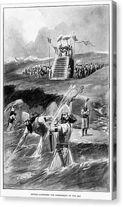 Xerxes Canvas Print - Xerxes At Hellespont by Granger