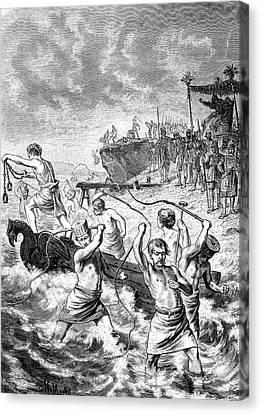 Xerxes Whipping The Sea Canvas Print