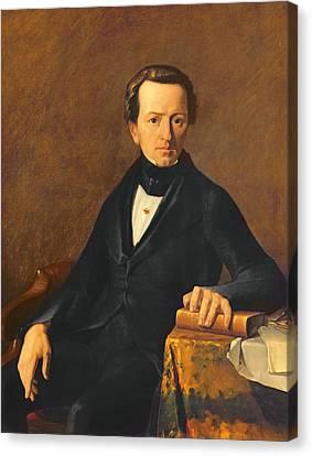 Half-length Canvas Print - Portrait Of Master Valmont by Jean-Francois Millet