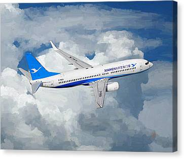 Xiamen Airlines Boeing 737 800 Canvas Print