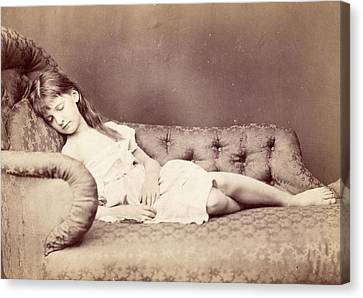 Xie Sleeping, 1874 Canvas Print by Lewis Carroll