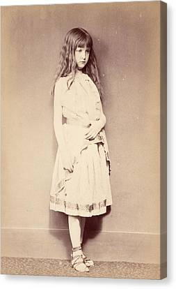 Xie Standing, C.1875 Canvas Print by Lewis Carroll