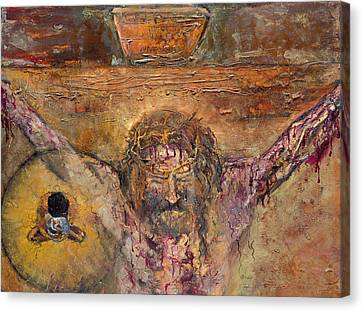 Xii Station Jesus Dies On The Cross Canvas Print