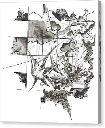Xiphias Canvas Print by Julio Lopez
