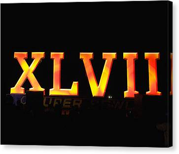 Canvas Print featuring the photograph Xlvii Super Bowl Sign by Photography  By Sai
