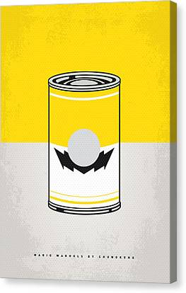 Y Mario Warhols Minimal Can Poster-wario Canvas Print