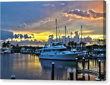 Canvas Print featuring the photograph Yacht At Cape Coral Florida Marina And Resort 2 by Timothy Lowry