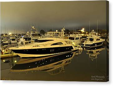 Canvas Print featuring the digital art Yacht  by Gandz Photography
