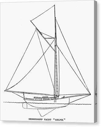 Yacht: Kelpie, 1882 Canvas Print by Granger