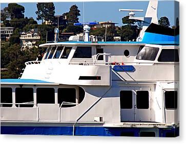 Yacht On Ocean Sausalito California Canvas Print